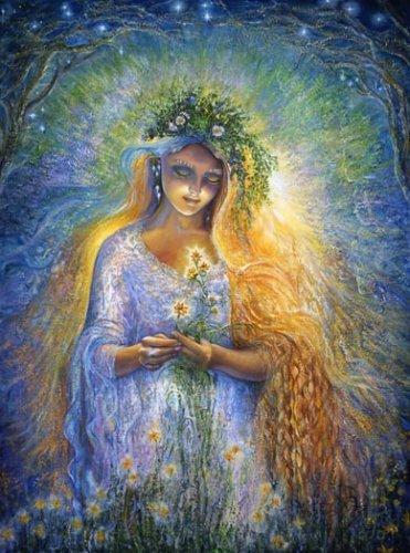 Леди Галадгиэль. Картина Жозефины Уолл.