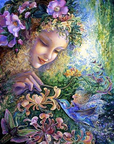 Цветы Жимолости. Картина Жозефины Уолл.