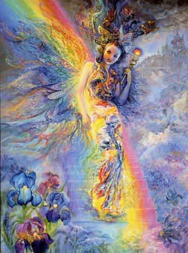 Ирида - хранительница радуги. Картина Жозефины Уолл.