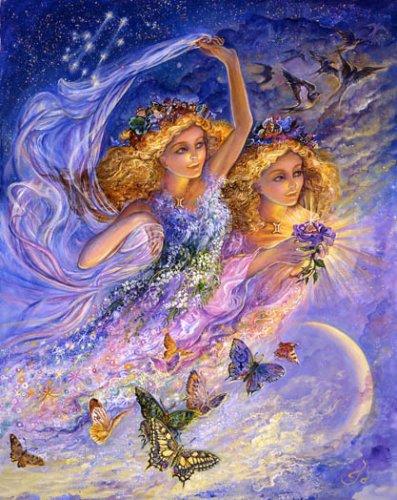 Близнецы (Знаки Зодиака). Картина Жозефины Уолл.