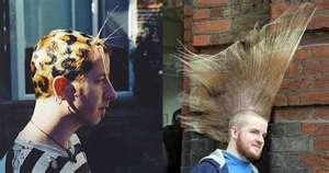 Мужские креативные причёски.