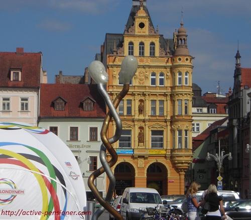 Старина и современность рядом (Чешские Будеёвице)