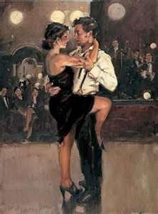 Танец в ресторане.