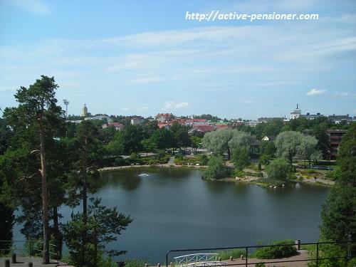 Вид на Водный парк Сапокка (Котка, Финляндия)