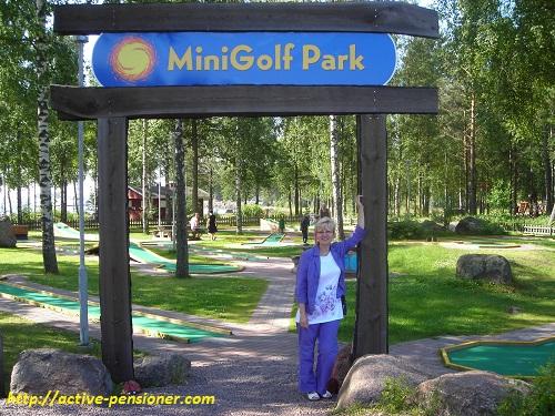Минигольф в Санталахти (Котка, Финляндия)