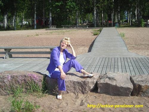 Пляж кемпинга Санталахти (Котка, Финляндия)