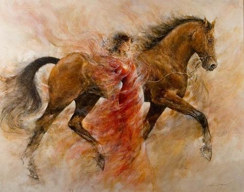 Красота человека и животного в живописи Гери Бенфилд
