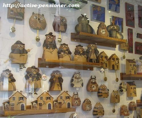 Магазин часов в Барселоне.