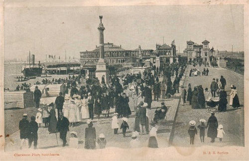 Пирс Кларенс (старая открытка)/ Clarence pier ( an old postcard)