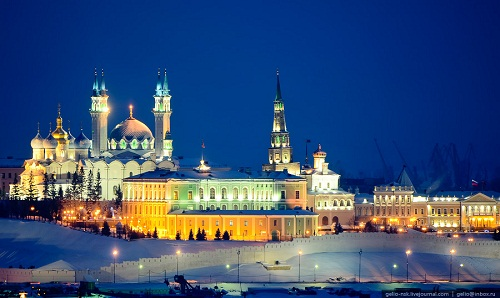 Красавица Казань зимой
