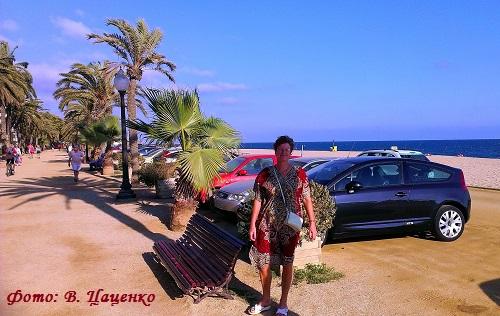 Любочка по дороге с пляжа (Калелья, Каталония)