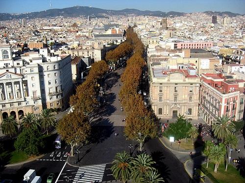 Знаменитая Рамбла (Барселона)