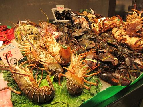 Дары моря (рынок Бокерия, Барселона)