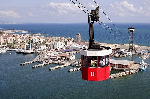Фуникулёр над Барселонским портом