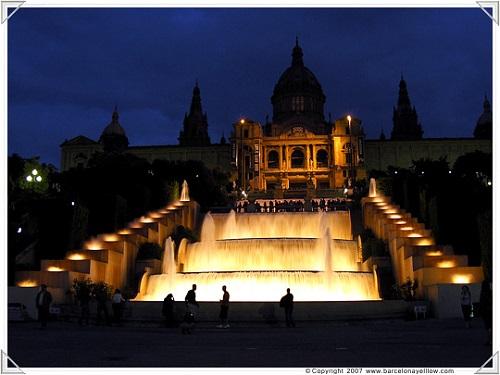 Национальный Дворец ночью (Монтжуик, Барселона)