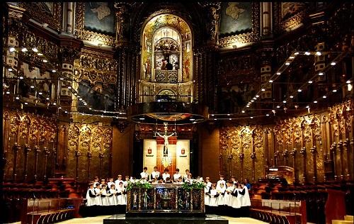 Хор мальчиков из монастыря бенедиктианцев (Монтсеррат, Каталония)