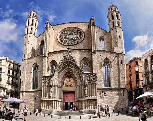 Церковь (базилика) Санта Мария дель Мар (Готический квартал, Барселона)
